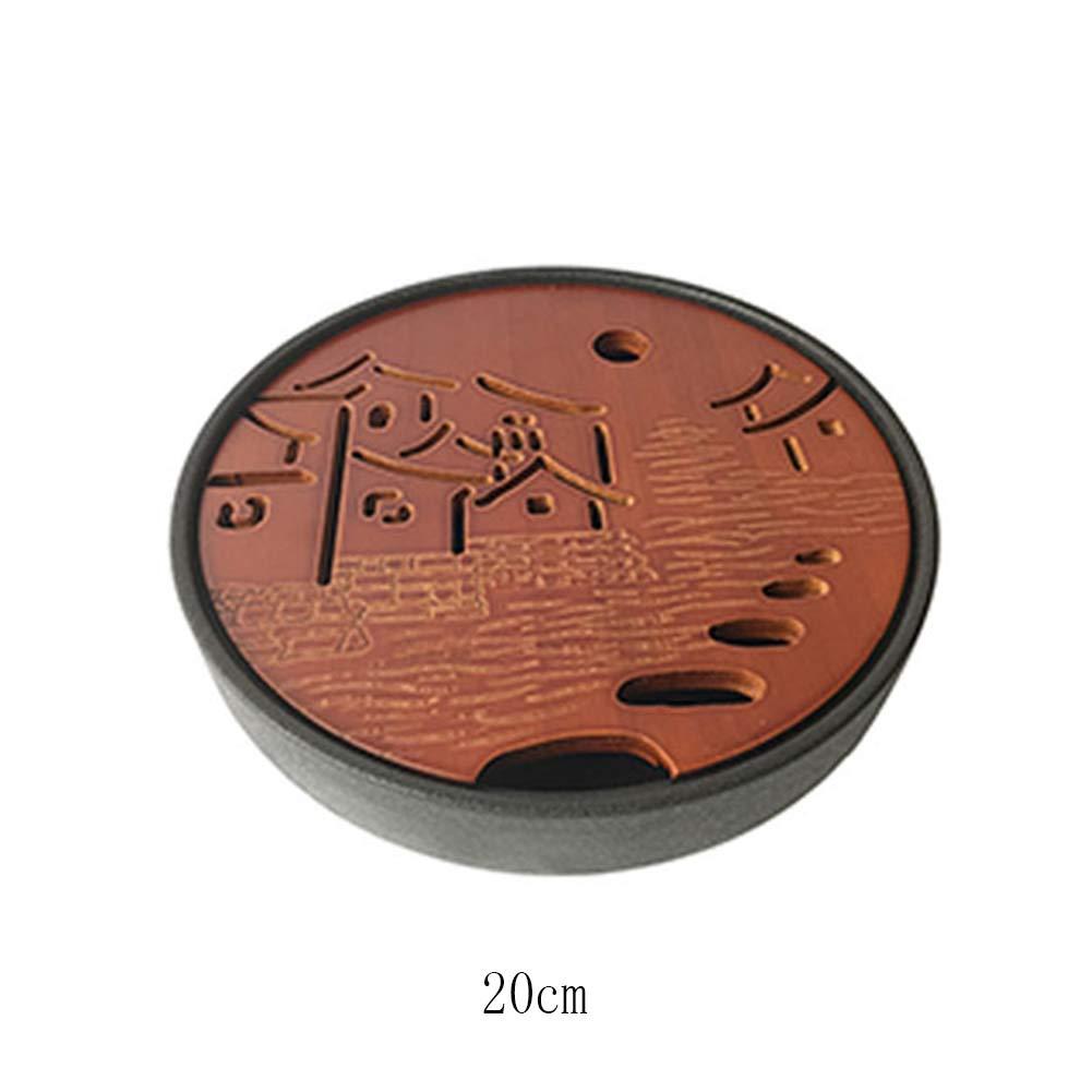 Amazon.com: YYH - Bandeja de té pequeña de bambú con base de ...