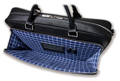 BFB Laptop Messenger Bag - Designer Business Computer Bag or Briefcase for Men - Ideal Commuter Bag for Work and Travel - Black by My Best Friend is a Bag (Image #3)