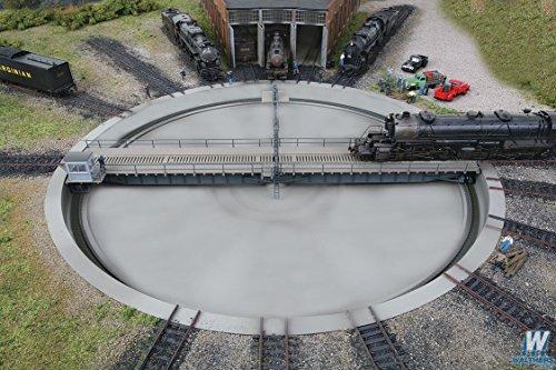 HO Scale Motorized 130' Turntable Built (Model Train Turntable)