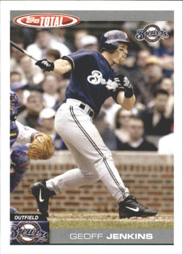 - 2004 Topps Total Team Checklists Baseball Card #TTC16 Geoff Jenkins