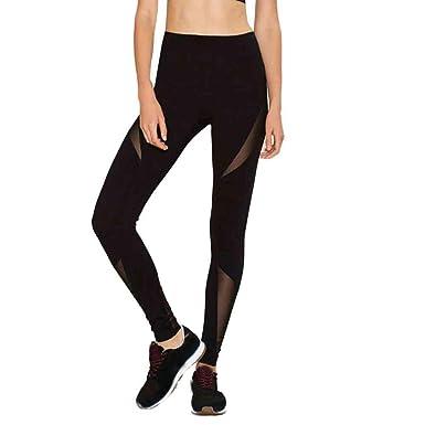 bd8bf8e68905fb Caopixx Women Yoga Pants, Mesh Running Sport Pants Workout Leggings Fitness  Trousers Women Plus Size