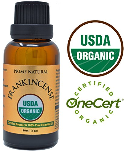 Organic Frankincense Essential Oil 30ml / 1oz - USDA Certified - Boswellia Serrata 100% Natural Pure Undiluted Therapeutic Grade for Aromatherapy Scents Diffuser Anti Aging Relaxation Anxiety Relief