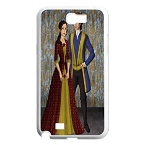 Samsung Galaxy Note 2 N7100 Phone Case White Beauty and the Beast The Enchanted Christmas MN6605978