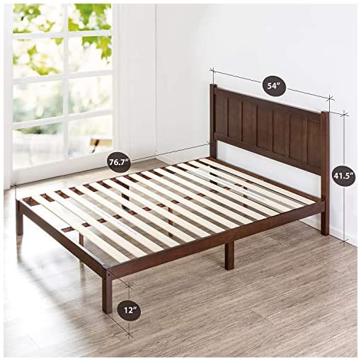 Bedroom Zinus Adrian Wood Rustic Style Platform Bed with Headboard / No Box Spring Needed / Wood Slat Support, Full,OLB-SWPBHR… farmhouse beds and bed frames
