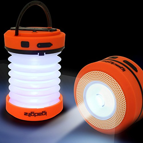 Dynamo Lantern (iGadgitz Xtra Lumin Eco Dynamo Rechargeable Pop Up Collapsible LED Lantern & Spotlight Torch + Emergency charger with 3 Year Warranty)