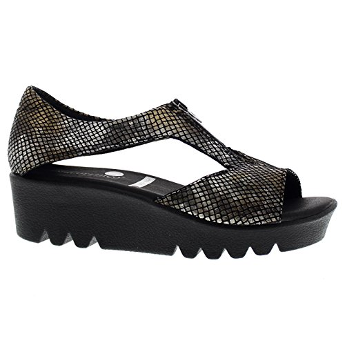 Arcopedico Womens Coral Textile Sandals Black