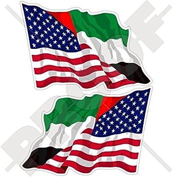 "Flying American Flag 9/"" Premium Vinyl Bumper Sticker Decal Patriotic USA"