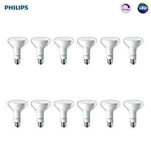 Philips LED 474312 BR30 Dimmable 650-Lumen, 2700-Kelvin, 11 (65-Watt Equivalent) Flood Light Bulb with E26 Medium Base, Soft White, 12-Pack, Piece