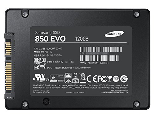 Samsung 850 EVO - 120GB - 2.5-Inch SATA III Internal SSD (MZ-75E120B/AM) 4 Powered by Samsung V-NAND Technology. Optimized Performance for Everyday Computing. Incredible Sequential Read/Write Performance : Up to 540MB/s and 520MB/s Respectively, and Random Read/Write IOPS Performance : Up to 94K and 88K Respectively Endurance, Reliability, Energy Efficiency, and a 5-Year Limited Warranty