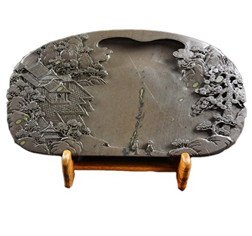 Chinese Zhaoqing Meihua Keng Duan Yan Large Size Ink Stone Inkstone 33.5x18x4cm by Charming China Ink Stone