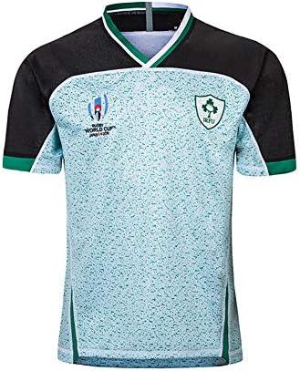 2019ワールドカップ アイルランドラグビージャージ、 ホームアンドアウェイコートフットボールジャージ メンズTシャツ アイリッシュショートスリ