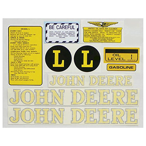 New Complete Decal Set L Vinyl Cut for John Deere Tractor