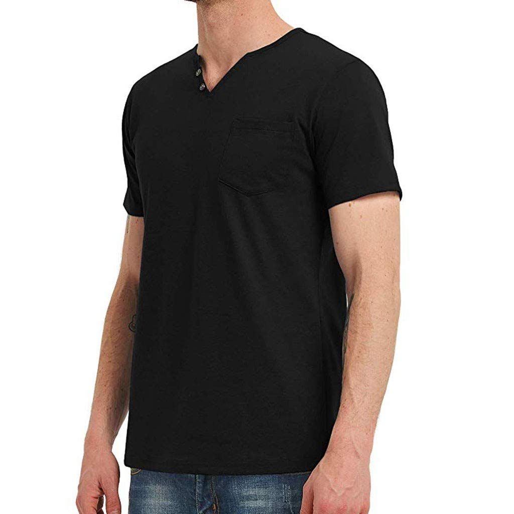WYTong Summer T-Shirts For Men Simple Solid Color Short Sleeve Tops For Men Casual Fashion Trend