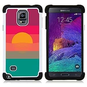 - sunset colors sun blue green purple - - Doble capa caja de la armadura Defender FOR Samsung Galaxy Note 4 SM-N910 N910 RetroCandy