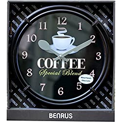 Benrus 10.86in Coffee Special Blend Wall Clock
