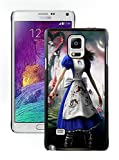 Customized and Unique Case Alice Madness Returns Girl Dress Knife Cheshire Cat Black Phone Skin for Samsung Galaxy Note 4