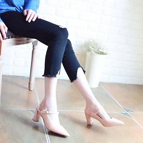 Chaussures Épais Printemps À color Au ZHUDJ Talons Nude qdtHO