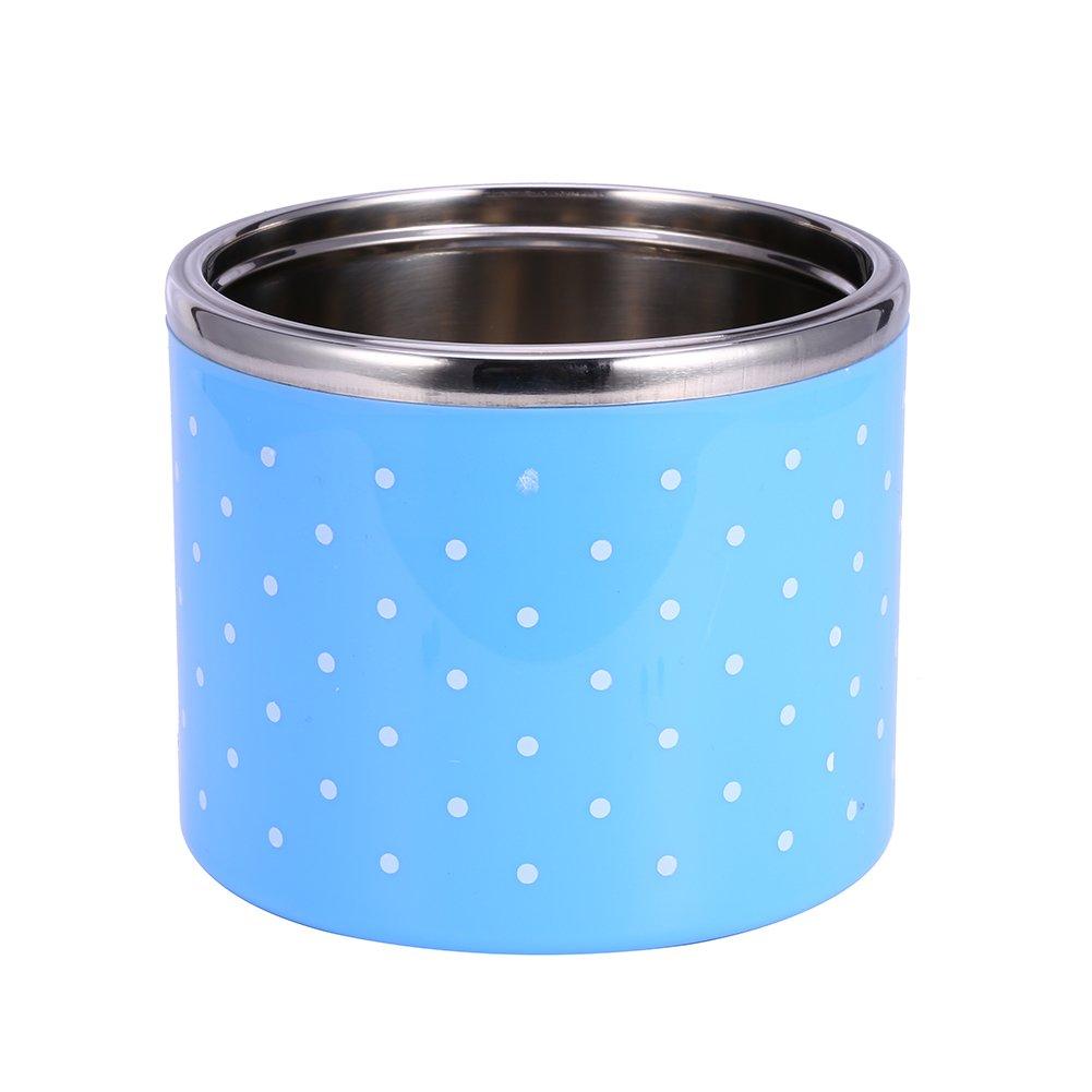 3 Capas 1200ml Fiambrera de Aislamiento Azul Fiambrera Termo t/érmica con aislamiento de acero inoxidable Contenedor de alimentos caliente