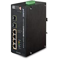 PLANET Industrial 4-Port 10/100/1000T 802.3at PoE+ w/ 2-Port 100/1000X SFP Ethernet Switch / IGS-624HPT /