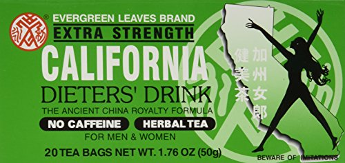 Evergreen Leaves Brand California Dieters' Tea 20 TB