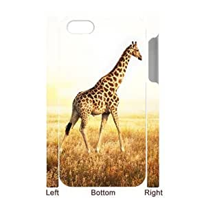 MMZ DIY PHONE CASEALICASE Diy 3D Protection Hard Case Giraffe For iphone 6 plus 5.5 inch [Pattern-1]