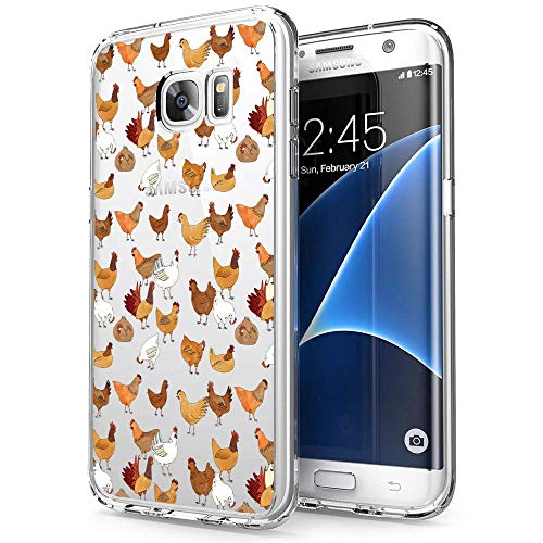 Samsung Galaxy S7 Edge Case Chicken Pattern Crystal Print Soft Super Silm Clear Case Samsung Galaxy S7 Edge Scratch-Proof Protective Cover (Chicken Scratch Patterns)