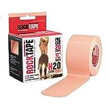 """Rocktape 2"""" H2O Pre Cut Roll of Tape, Beige, Universal"""