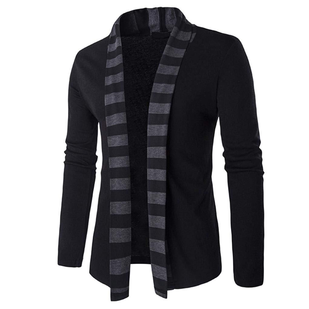 BHYDRY Fashion Men's Autumn Winter Sweater Cardigan Knit Knitwear Coat Sweatshirt Long Sleeve Top Cotton Outwear Patchwork Jacket