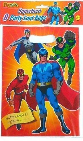 24 x Superhéroe Bolsas Cotillón: Amazon.es: Juguetes y juegos