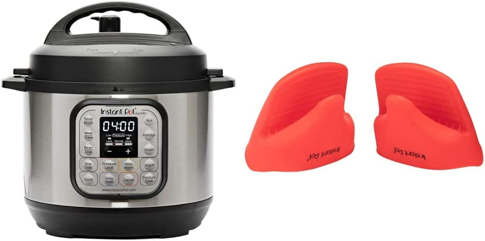 Instant Pot Duo Mini 7-in-1 Electric Pressure Cooker, Sterilizer, Slow Cooker, Rice Cooker, Steamer, Saute, Yogurt Maker, and Warmer, 3 Quart, 11 One-Touch Programs & Pot Mini Mitts