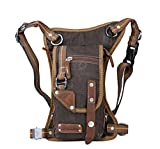Genda 2Archer Casual Cowboy Style Tactical Leg Bag Pouch Hiking Messenger Fanny Bag (Coffee)
