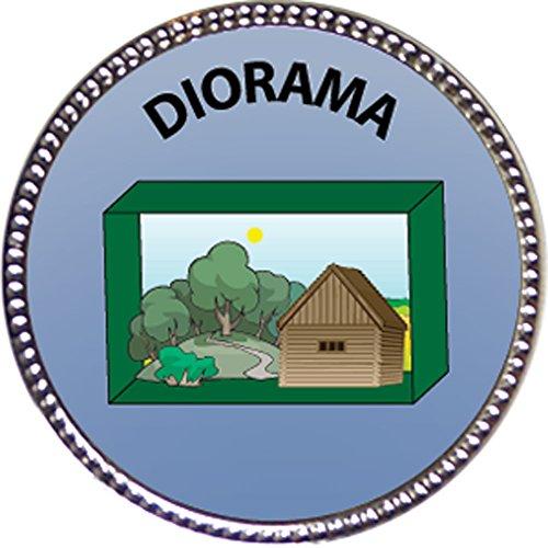 Keepsake Awards Diorama Award, 1 inch Dia Silver Pin Artistic Skills ()