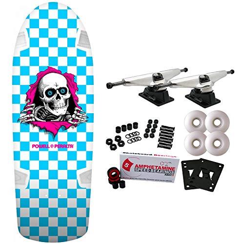 Powell-Peralta Skateboard Complete OG Ripper Checker Blue Re-Issue Old ()