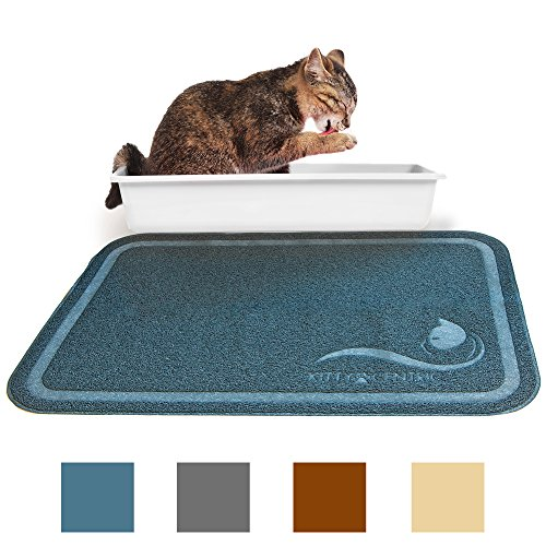 Kittycentric Kittycentric Cat Litter Mat With Scatter Control- Extra Large 35.4x23.5, Cornflower Blue