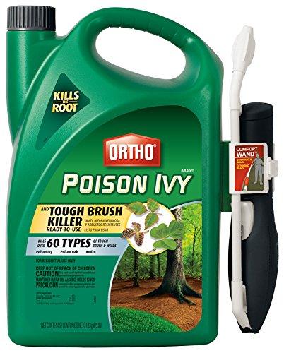 Poison Ivy Oak And Sumac - Ortho MAX Poison Ivy & Tough Brush Killer Ready-To-Use with Comfort Wand, 1.33-Gallon