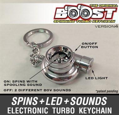 Electronic Spinning Turbo Turbina Llavero con sonido + LED de. – Cromo New V4: Amazon.es: Coche y moto