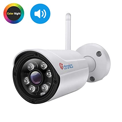 Cámara IP Wifi (Fisheye) Ctronics, 720p vigilancia, gran angular de 150 °