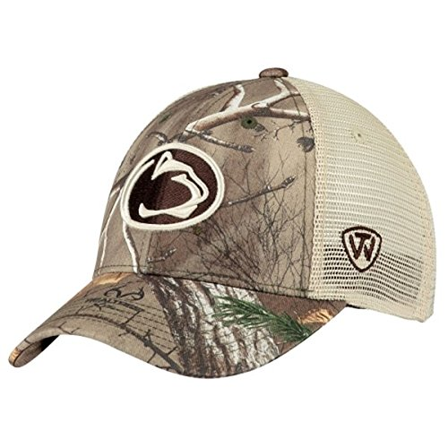 Penn State Nittany Lions TOW Camo Mesh Prey Adjustable Snapback Hat (Penn State Camo)