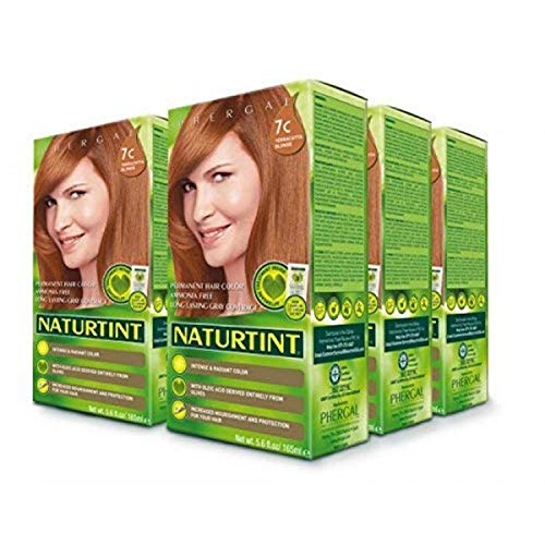 Naturtint Permanent Hair Color 7C Terracotta Blonde (Pack of 6), Ammonia Free, Vegan, Cruelty Free, up to 100% Gray Coverage, Long Lasting Results