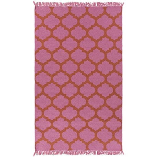 Diva At Home 8' x 11' Imperial Fashions Carnation Pink and Sunset Orange Hand Woven Area Throw Rug