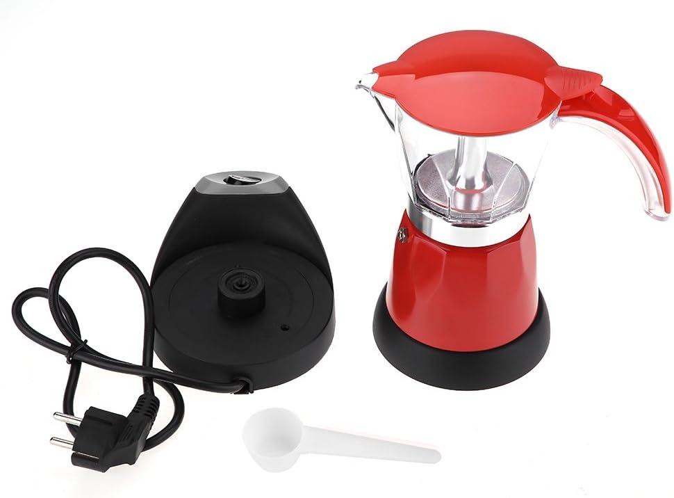 Rot MUGAST Caffettiera Elettrica 6 Tazze Caffettiera Caffettiera Alta Tenacit/à Design Rimovibile Mantenendo Caldo il Caff/è
