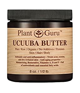 Ucuuba Body Butter 8 oz. 100% Pure Raw Fresh Natural Cold Pressed. Skin Body and Hair Moisturizer, DIY Creams, Balms, Lotions, Soaps.