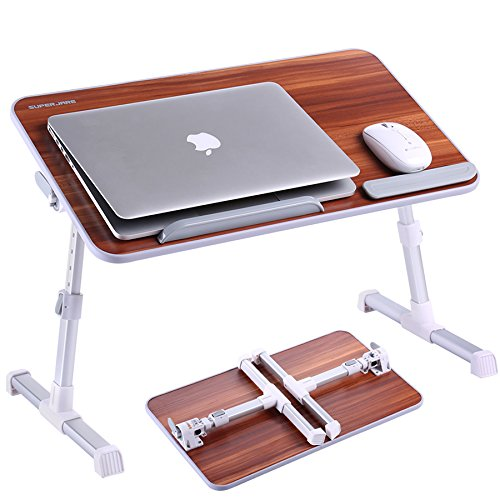Adjustable Laptop Table, Superjare Portable Standing Desk, Notebook Stand Reading Holder For Couch F