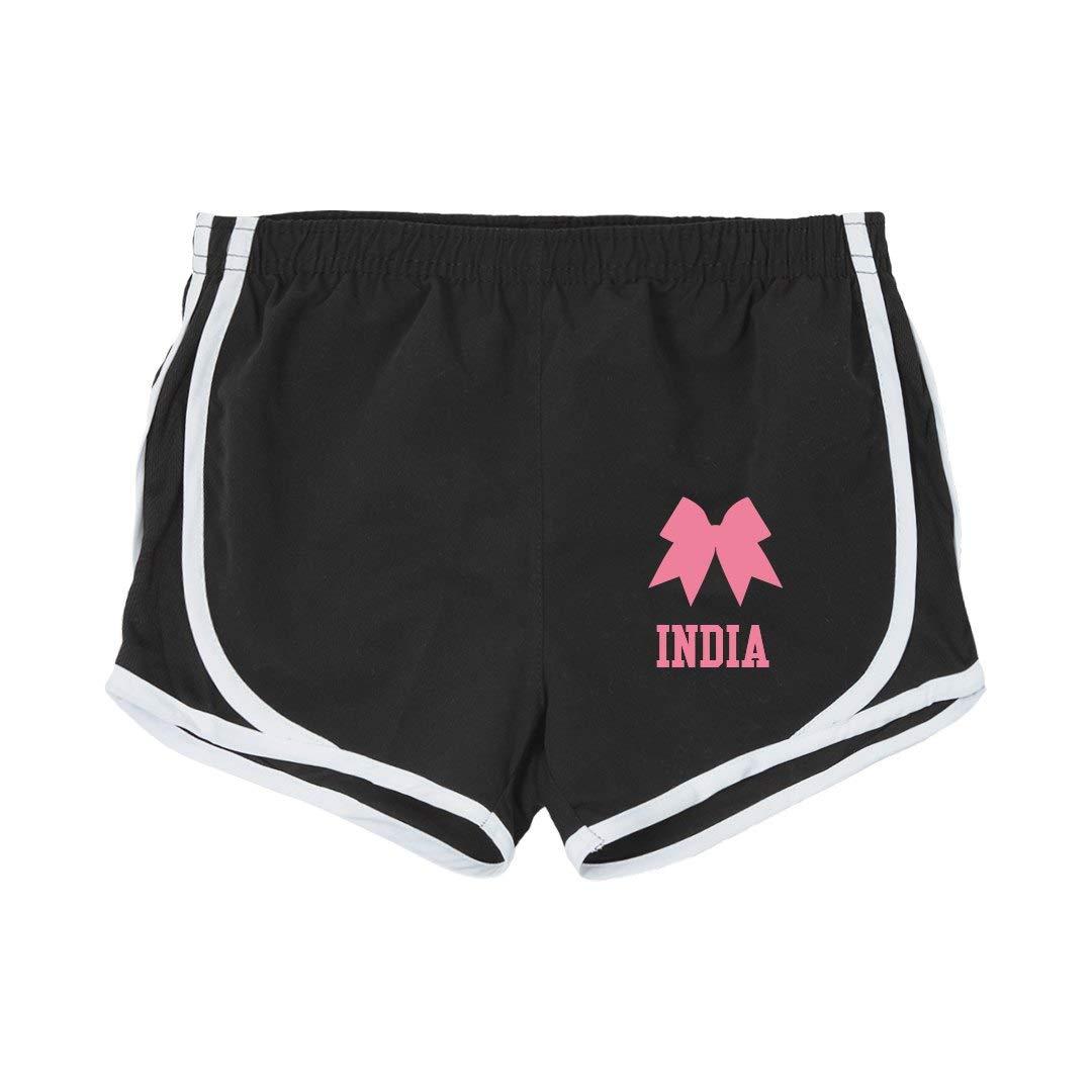 India Girl Cheer Practice Shorts Youth Running Shorts