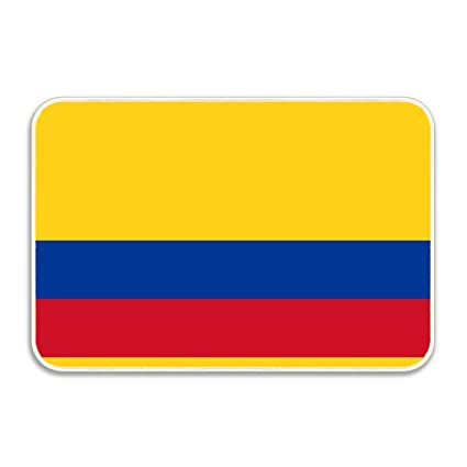 Amazon.com: fuxinwang Cotton Colombia Flag Entrance Rug ...