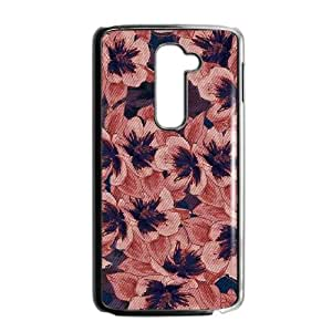 LG G2 Cell Phone Case Black Dark Tapestry Floral X0L1SH