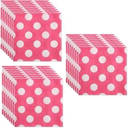 Pink Polka Party Beverage Napkins