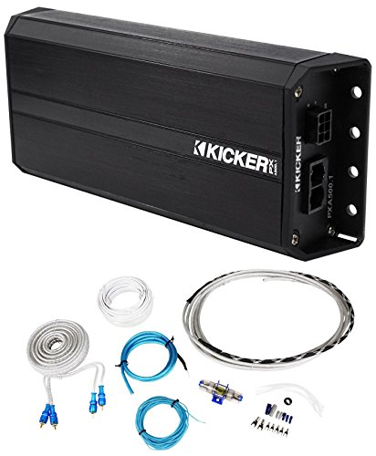 Kicker 42PXA500.1 500w Mono Amplifier 4 Polaris/Motorcycle/ATV/UTV/RZR/Cart+Kit (Kicker Utv Audio)