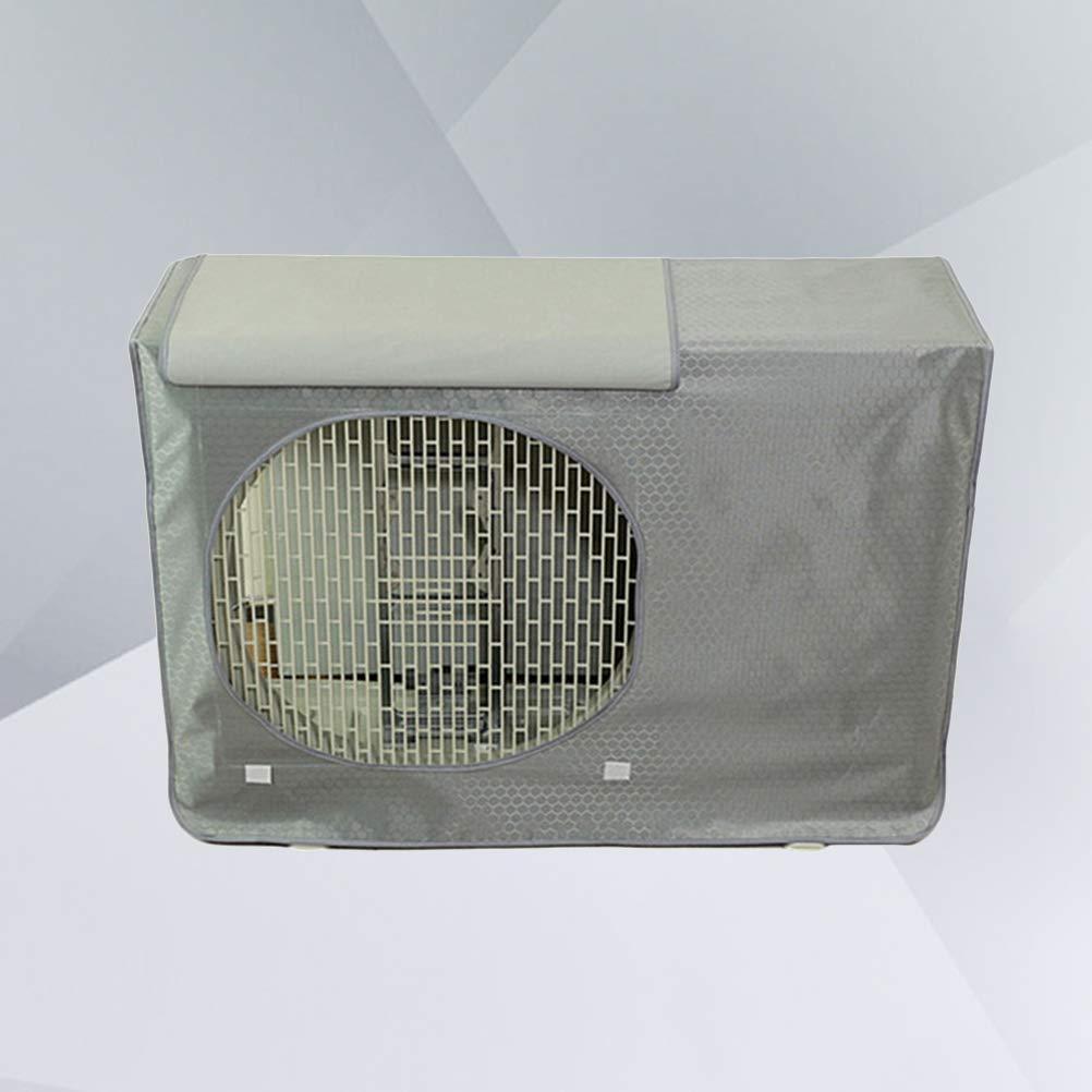 Vosarea Coperchio per unit/à di condizionamento dAria Protezione Solare Antipolvere per Esterno Portatile Rivestimento in Tessuto 78x55x28cm Grigio