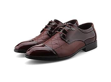 Zapatos De Cuero Los Hombres Mocasines Para Elegante Vestido Formal Fiesta Boda Calzado Casual Tacón Bajo Trabajo Banquetes Moda Transpirables Punta ...